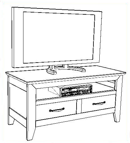 meuble tv dessin. Black Bedroom Furniture Sets. Home Design Ideas